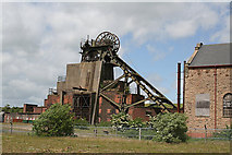 SK4964 : Pleasley Pit South Shaft by Alan Murray-Rust