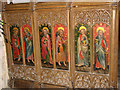 TG2825 : St Botolph's church - rood screen detail by Evelyn Simak