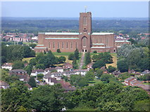 SU9849 : Guildford Park and Cathedral by Colin Smith