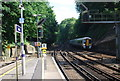 TQ5255 : Train approaching the southern end of Sevenoaks Station by N Chadwick