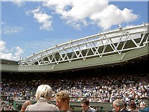 TQ2472 : The new roof to Centre Court Wimbledon by Steve  Fareham