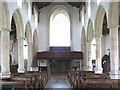TF9521 : St Bartholomew's church - view west by Evelyn Simak