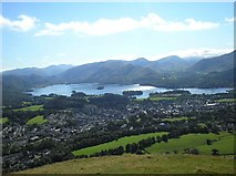 NY2724 : View over Keswick and Derwentwater by Sue Rahman