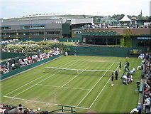 TQ2472 : General view at Wimbledon 2008 by Rod Allday