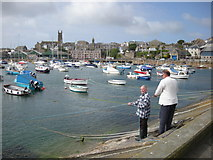 SW4730 : The Inner Harbour, Penzance by Mari Buckley