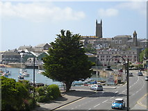 SW4730 : Wharf Road, Penzance, from the Wharfside Centre by Mari Buckley