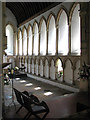 TG2125 : St Mary's church - lancet windows and arcading by Evelyn Simak