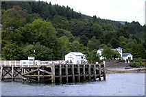 NS1981 : Blairmore Pier from the Loch by Willie Mair