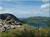 NY1618 : Summit cairn on Rannerdale Knotts by David Brown