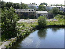 SD8431 : Disused Waterway Yard, Finsley Gate by Robert Wade