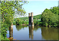 SO7776 : Dowles Bridge remains and River Severn by P L Chadwick