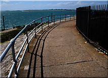 SZ6497 : Footpath round the south side of Southsea Castle by Chris Gunns