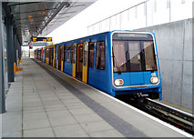 TQ4380 : King George V Station, Docklands Light Railway by Dr Neil Clifton