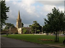SP3509 : Church and green, Witney by Derek Harper
