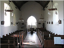 TF9235 : St Giles' church - view west by Evelyn Simak