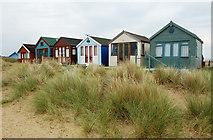 SZ1891 : Beach Huts at Mudeford Sandbank by RRRR NNNN