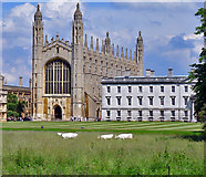 TL4458 : King's College Chapel, Cambridge by Peter Church