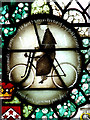 TG0934 : The church of SS Peter & Paul - stained glass roundel by Evelyn Simak