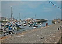 SN4562 : Aberaeron harbour by Dennis Turner