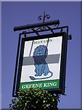 TL3758 : The Blue Lion - sign by Keith Edkins
