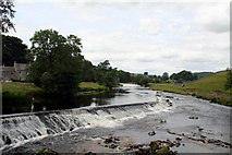 SE0063 : Lower Weir, River Wharfe, Linton, Yorkshire by Dr Neil Clifton