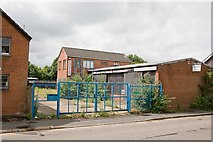 SU4828 : Disused premises of Angian steel stock holders, Barfield Close by Peter Facey