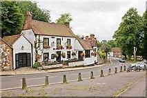 SU4828 : Black Boy pub, Wharf Hill, Winchester by Peter Facey