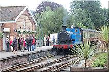 SD3787 : Train at Lakeside station. by John Firth