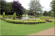 SK0573 : Fountain in Pavilion Gardens. by John Firth