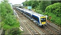 J2664 : Lisburn station by Albert Bridge