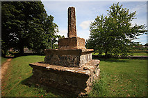 SY7699 : Old Preaching Cross in St Martin's Churchyard - Cheselbourne by Mike Searle