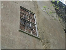 ST5295 : Piercefield House - bricked-up window (with frame still intact) by Nick Mutton