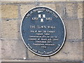NZ2463 : Plaque re the Gunner Tower, Pink Lane by Mike Quinn