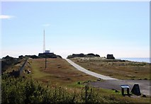 SX9456 : Berry Head - road to lighthouse by Tom Jolliffe