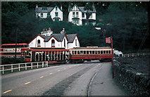 SC4384 : Passing Laxey bus station by Dr Neil Clifton