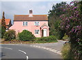 TM2744 : Cottage at lane corner and junction, Waldringfield by Andrew Hill