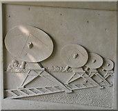 TL3852 : Harlton Millennium Sign - radio telescopes by Keith Edkins