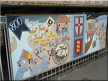 SU6400 : Panel 2 of the 1995 Mural at Portsmouth and Southsea Station by Basher Eyre