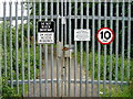 NS8940 : Access gate to Bonnington dam by Alan Pitkethley