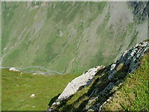 NY2114 : Honister pass from Honister Crag by David Brown
