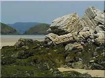 C0735 : Rocks, Clonmass Bay by Rossographer
