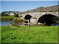 SO0391 : River Severn,Caersws road bridge. by kevin skidmore