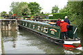 SP4408 : Narrowboat entering Eynsham Lock by Pierre Terre
