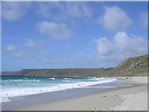 SW3526 : Sennen Cove beach by Rod Allday