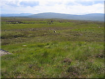 NN3762 : Looking across the featureless moor to the Black Corries by Pip Rolls
