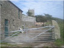 SW4538 : Farm beside the path from Zennor Head by Row17