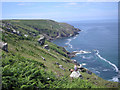 SW4840 : Picnicking at Trevalgan cliffs by Row17