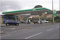 SE1115 : BP Filling Station - Manchester Road, Milnsbridge by Betty Longbottom