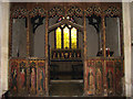 TF9624 : St Helen's church - rood screen by Evelyn Simak