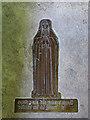 TG3109 : St Margaret's church - brass memorial by Evelyn Simak